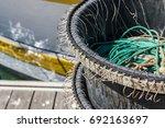 multiple hooks for longline... | Shutterstock . vector #692163697
