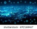 digital technology over night... | Shutterstock . vector #692168467