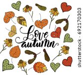 love autumn. handdrawn unique... | Shutterstock .eps vector #692170303