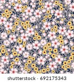 elegant floral pattern in small ... | Shutterstock .eps vector #692175343