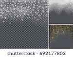 snow confetti on transparent... | Shutterstock . vector #692177803
