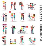 dating of couples in love... | Shutterstock . vector #692177857