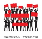 protest by group of protester... | Shutterstock . vector #692181493