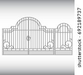 gates forged  fence | Shutterstock .eps vector #692189737
