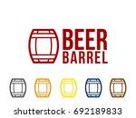 barrel icon | Shutterstock .eps vector #692189833