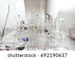 laboratory glassware or beaker  ... | Shutterstock . vector #692190637