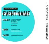 event invitation template with... | Shutterstock .eps vector #692190877