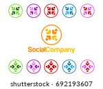 social people icon | Shutterstock .eps vector #692193607