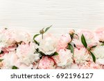 Floral Frame Made Of Pink And...