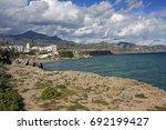 panoramic view of nerja  costa... | Shutterstock . vector #692199427