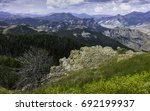 red lodge  montana  usa. rocky... | Shutterstock . vector #692199937