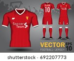 set of soccer kit  | Shutterstock .eps vector #692207773