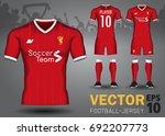 set of soccer kit or football... | Shutterstock .eps vector #692207773