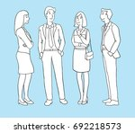 group of business people... | Shutterstock .eps vector #692218573