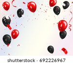 Red Black Balloons  Confetti...
