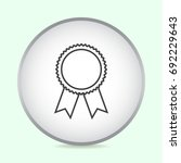 line icon  medal