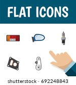 flat icon auto set of spare... | Shutterstock .eps vector #692248843