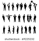 businessmen in various... | Shutterstock . vector #69225232