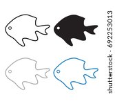 silhouettes of fish  vector...   Shutterstock .eps vector #692253013