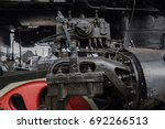 steam locomotive mechanism of... | Shutterstock . vector #692266513