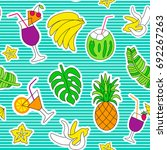 seamless pattern with bright... | Shutterstock . vector #692267263