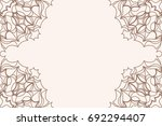template of greeting card with... | Shutterstock .eps vector #692294407