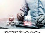 technology network online... | Shutterstock . vector #692296987