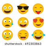 set of emoticons. set of emoji. ... | Shutterstock .eps vector #692303863