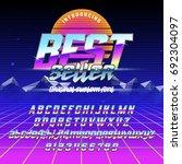 cool italic typeface best... | Shutterstock .eps vector #692304097