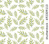 leaves seamless pattern vector... | Shutterstock .eps vector #692309113