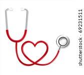 stethoscope in shape of heart ... | Shutterstock .eps vector #69231511