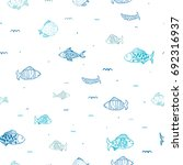 fish colony seamless pattern... | Shutterstock .eps vector #692316937