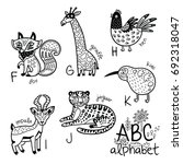 animals alphabet f   k for... | Shutterstock .eps vector #692318047