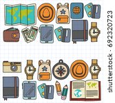 vector doodle set with travel... | Shutterstock .eps vector #692320723