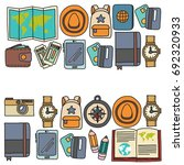 vector doodle set with travel... | Shutterstock .eps vector #692320933