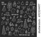 christmas new year santa claus... | Shutterstock .eps vector #692324497
