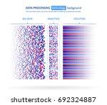 big data visualization.... | Shutterstock .eps vector #692324887