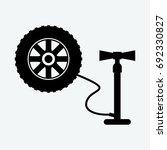 air pump icon vector | Shutterstock .eps vector #692330827