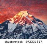 mount dhaulagiri  evening... | Shutterstock . vector #692331517