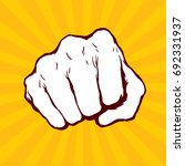 punching fist hand vector  | Shutterstock .eps vector #692331937