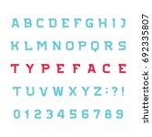 abstract alphabet font. effect... | Shutterstock .eps vector #692335807