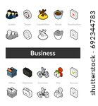 set of isometric icons in... | Shutterstock .eps vector #692344783