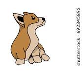 welsh corgi vector image... | Shutterstock .eps vector #692345893