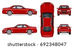 red sports car vector template... | Shutterstock .eps vector #692348047
