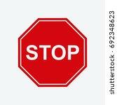 stop icon vector | Shutterstock .eps vector #692348623