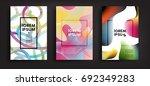 brochure design set. trendy... | Shutterstock .eps vector #692349283