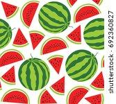 watermelon  pattern. vector... | Shutterstock .eps vector #692360827
