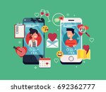 dating applications concept.... | Shutterstock .eps vector #692362777