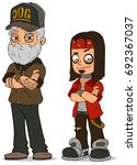 cartoon cool rock old and young ... | Shutterstock .eps vector #692367037