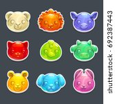 cute jelly animals faces....